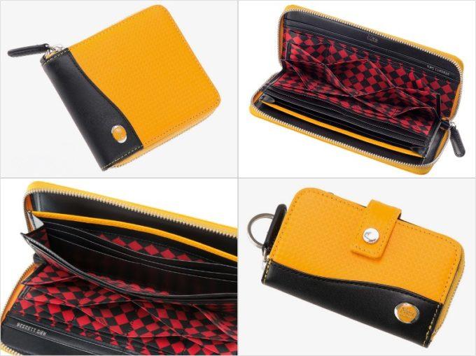 ファルベハイブリッドレザーシリーズの財布各種