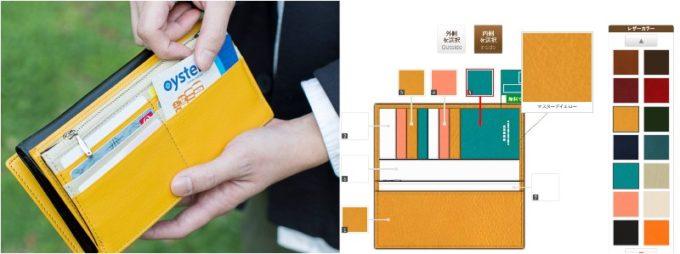 ジョッゴの黄色い財布と黄色い財布を作るパソコン画面