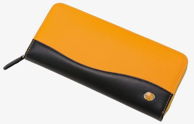 ファルベハイブリッドレザーシリーズのラウンドファスナー長財布