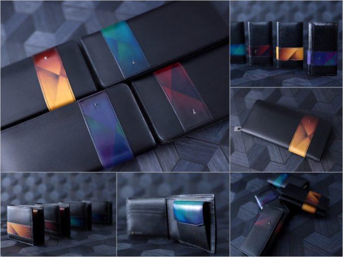 yuhakuのSky sceneryシリーズの全革財布と革製品