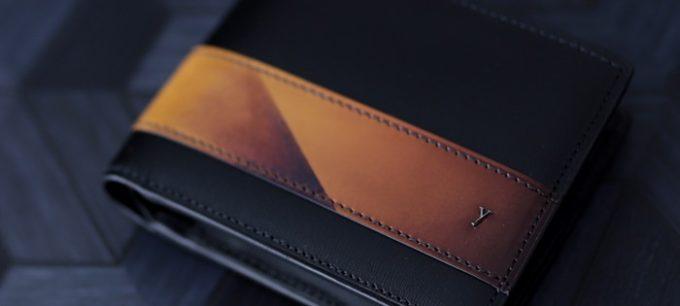 Sky sceneryシリーズの二つ折り財布の幾何学模様