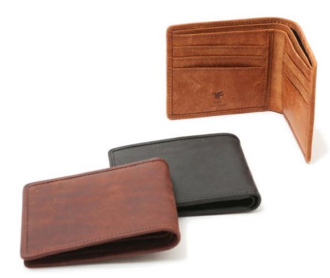 sot・プエブロレザー二つ折り財布(小銭入れなし)