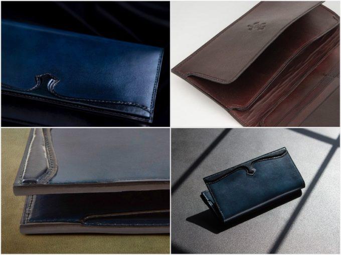 KAJIYA・手染めイタリアンレザー長財布の外装と内装収納ポケット