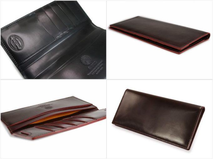 GANZO・シェルコードバン2マチ無し長財布の内装ポケットと外装