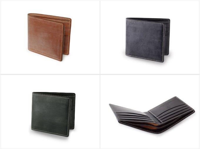 BRIDLE CASUAL (ブライドルカジュアル)純札入れの各カラーと内装収納ポケット