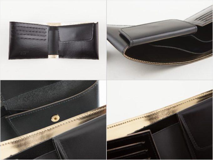 二宮五郎商店・KAWAORIGAMI二つ折り財布の内装