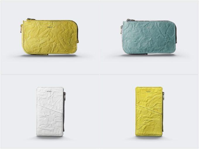 Rughe Leatherシリーズの明るい色のマルチケースMとS