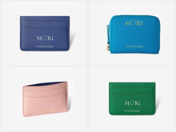 ジップウォレットとカードケース(カードとお札収納可能)の各明るいカラー