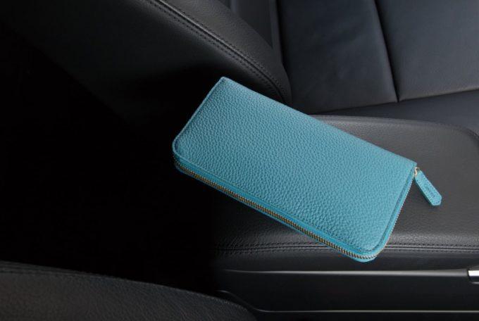 CIMABUE・シュランケンカーフシリーズのラウンドジップ長財布