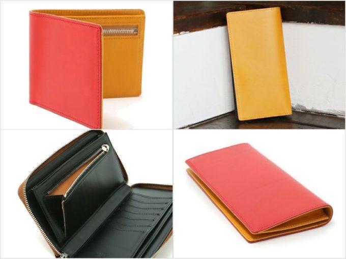 ブッテーロレザーシリーズの二つ折り財布とラウンドファスナー長財布と長財布