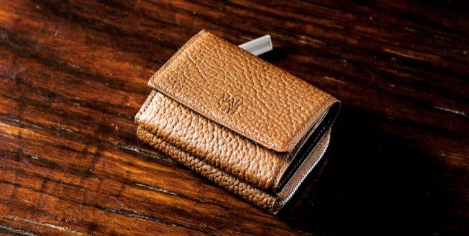 マットシュリンクシリーズの高級ミニ財布
