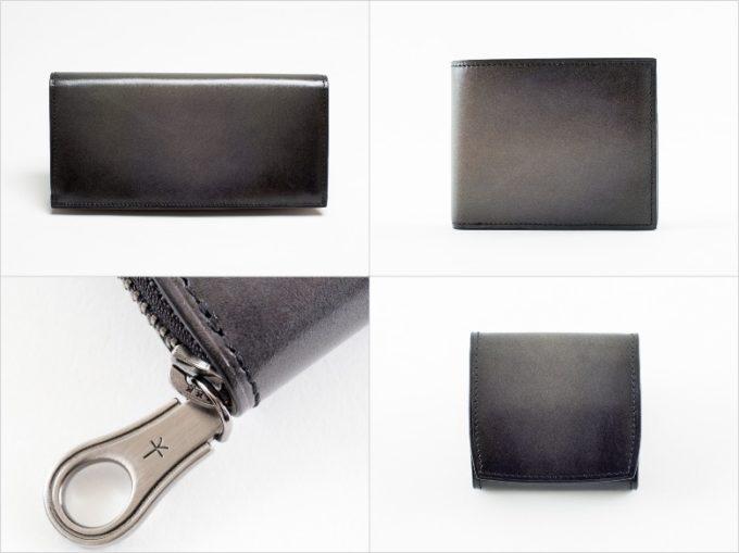 yuhaku(ゆはく)・Proof Foschia(プルーフフォスキーア)のグレイカラーの各種財布