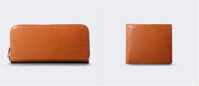 アンティークレザーシリーズのオレンジカラーの各種財布