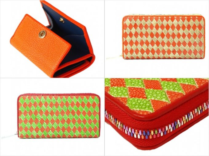 ガルーシャポリッシュオレンジの各種財布(オレンジカラー)