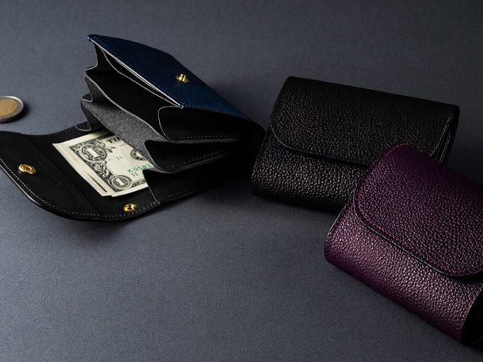 黒桟革小さな財布