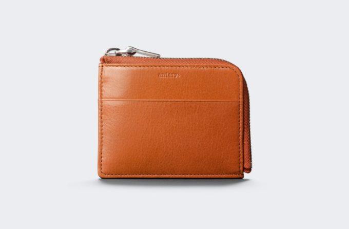 アンティークレザーシリーズのオレンジカラーのコインケース
