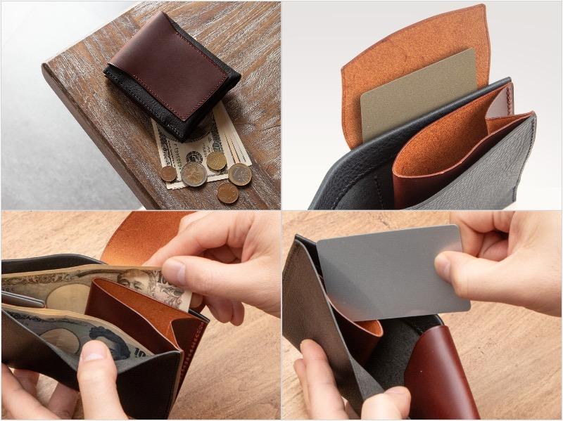 マレンマorブッテーロ&ミネルバボックス二つ折り財布の各部写真
