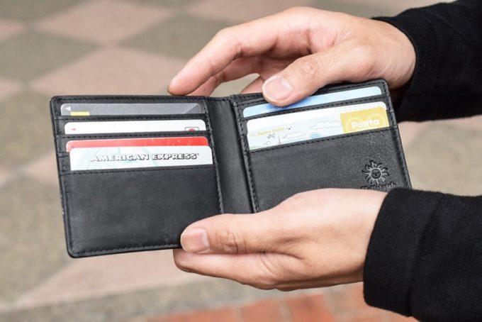 オールレザーコンパクト二つ折り財布