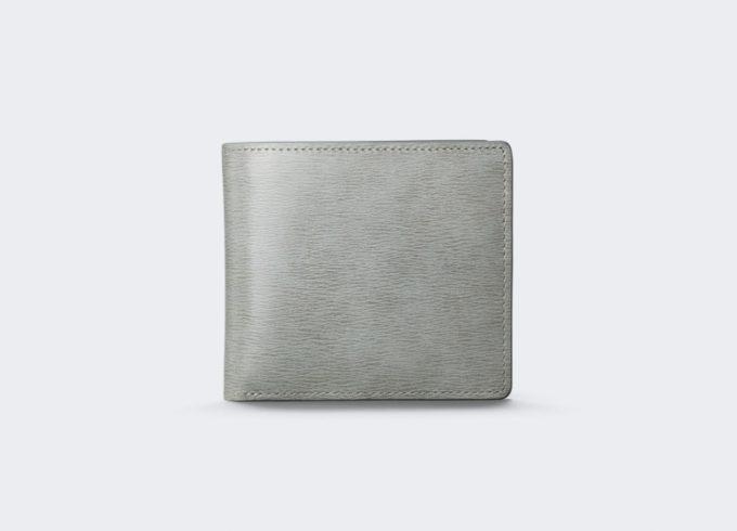 aniary(アニアリ)・Inheritance Leather(インヘリタンスレザー)のグレイカラーの二つ折り財布