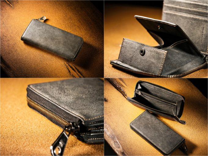 COCOMEISTER(ココマイスター)・CaldoMirage(カルドミラージュ)グレイカラー各種財布