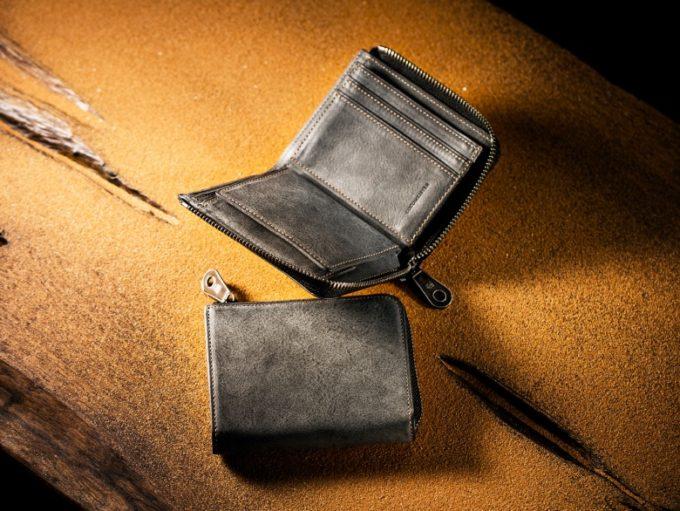 COCOMEISTER(ココマイスター)・CaldoMirage(カルドミラージュ)の財布グレイカラー