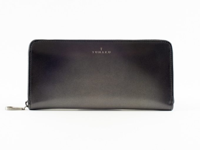 yuhaku(ゆはく)・Proof Foschia(プルーフフォスキーア)の長財布グレイカラー