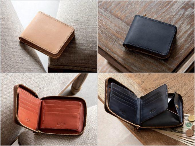 Wステッチミニラウンドジップ財布(Tsurane)の各種財布