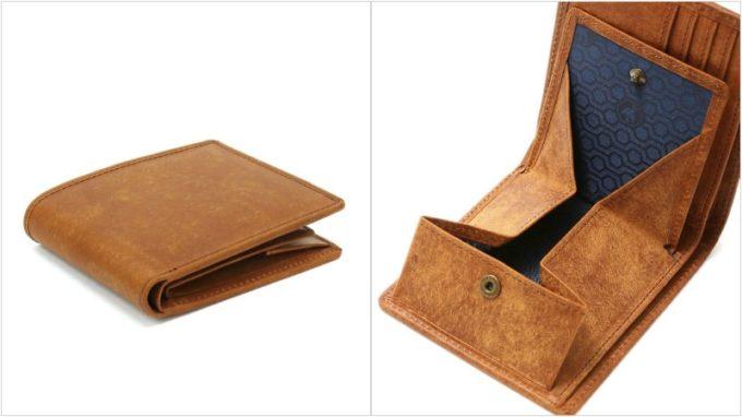sot・プエブロレザー二つ折り財布の外装とギャルソン小銭入れ