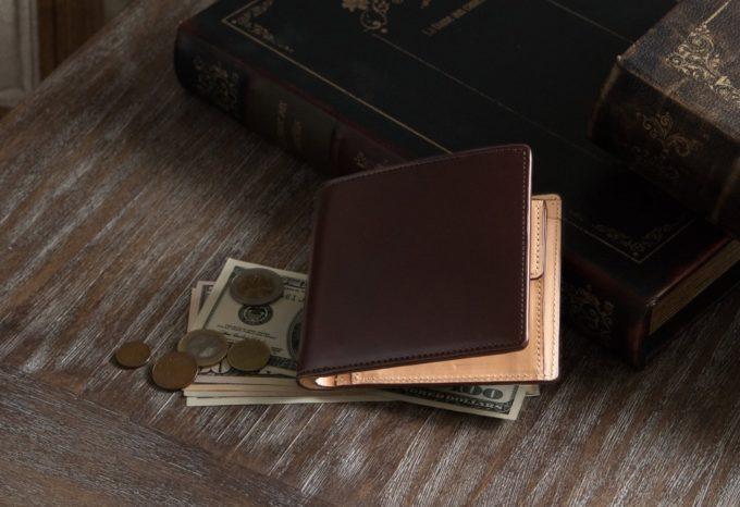 アニリン染めコードバン二つ折り財布(CIMABUE)
