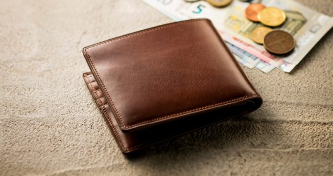 アンティーク調のココマイスター二つ折り財布