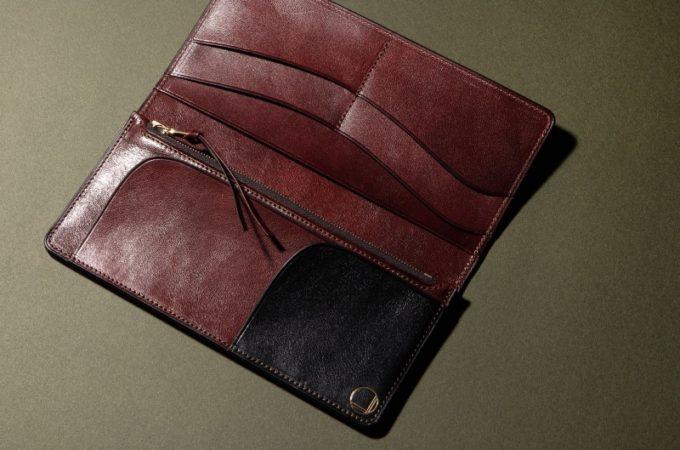 手揉みレザーシリーズの長財布