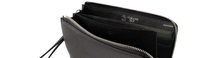 フィンランドエルクの財布の内装ロゴ