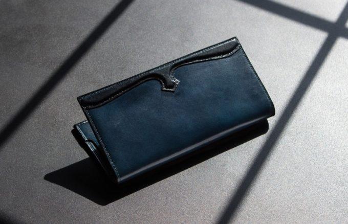 手染めイタリアンレザー長財布