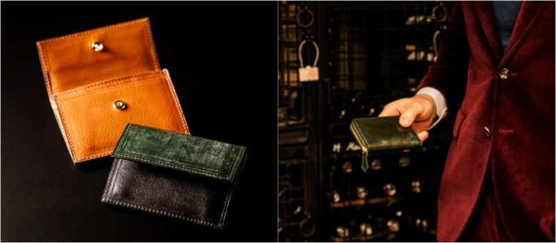 COCOMEISTER・ロンドンブライドルシリーズのグリーンカラーの各種財布