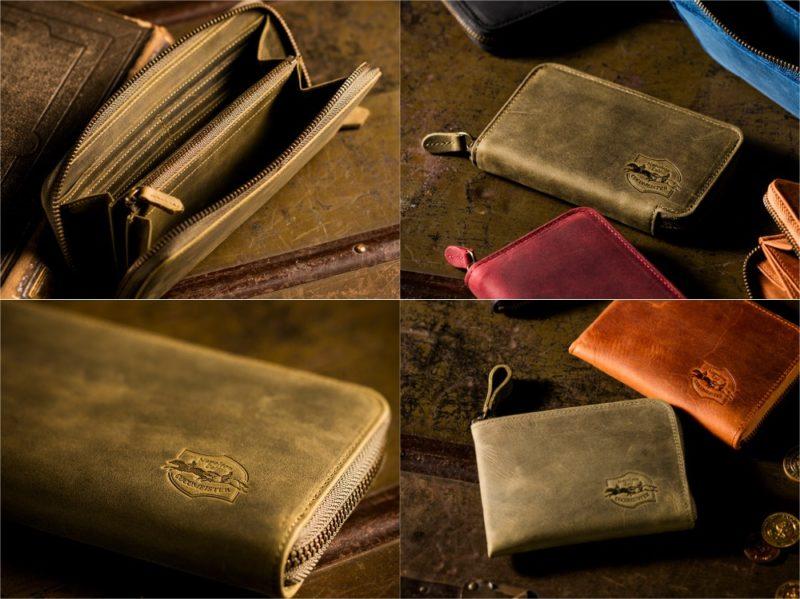 COCOMEISTER・ナポレオンシリーズのグリーンカラーの各種財布