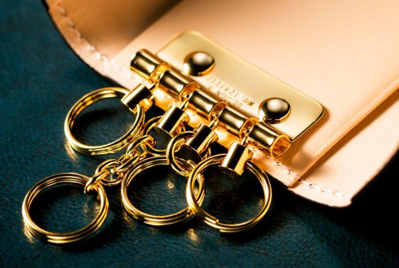 鍵が重ならないキーケース