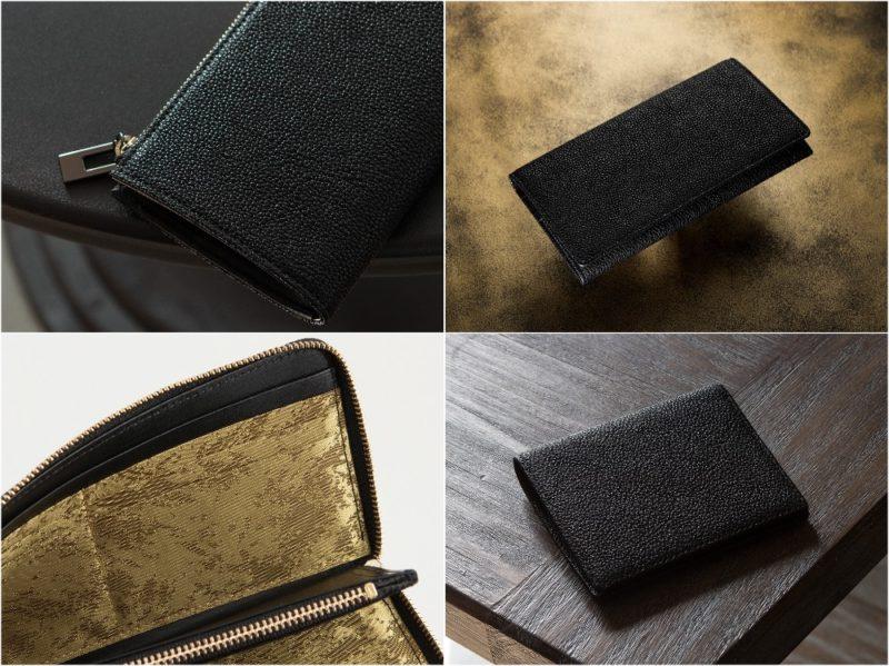 カモンド・黒桟革の財布(漆塗り国産黒毛和牛)の各部