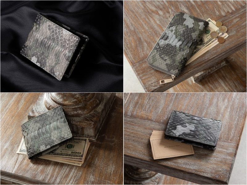LE'SAC(レザック)・ダイヤモンドパイソンの各種財布