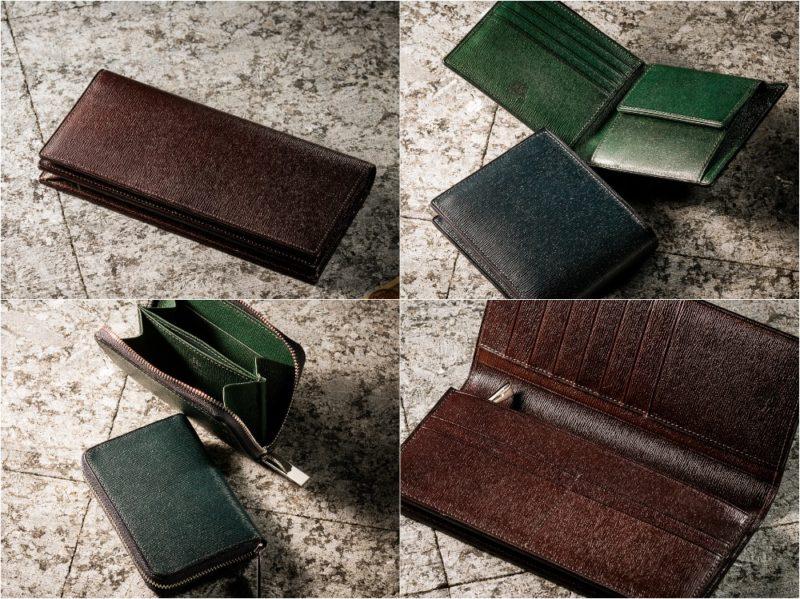 プルキャラックシリーズ限定カラー(雷雨型押し模様)の各種財布