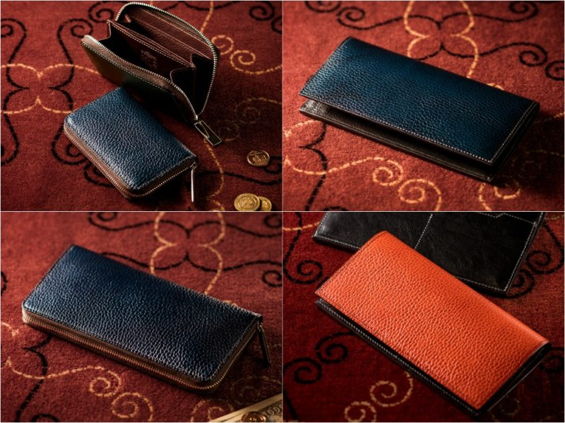 ロッソピエトラシリーズ(ガルニエ宮外壁イメージエンボス模様)の各種財布