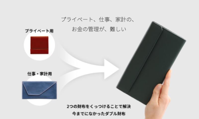 プライベート用と仕事・家計用とで使い分けられるツインズ財布