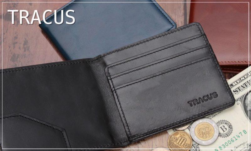 トラッカス・本革マネークリップ二つ折り財布