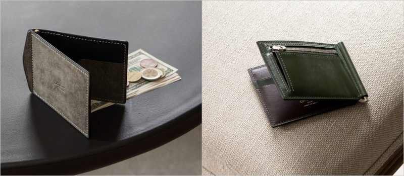 小銭入れカード入れ付きマネークリップ各種