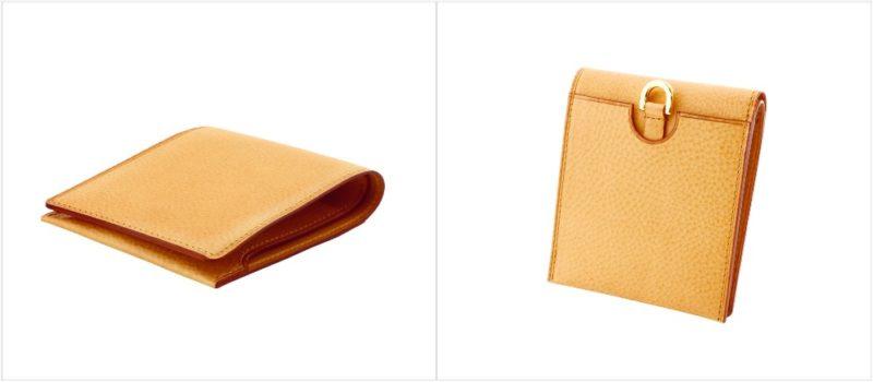 ミネルバナチュラル・コンパクト二つ折り財布(GANZO) の各部