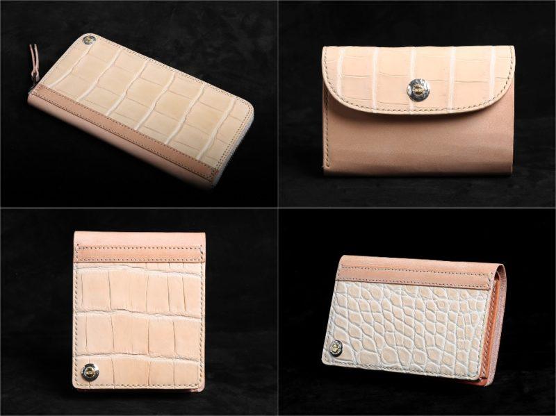 MOTO(モト)ヌメクロコ×ウィケットヌメシリーズの各種財布