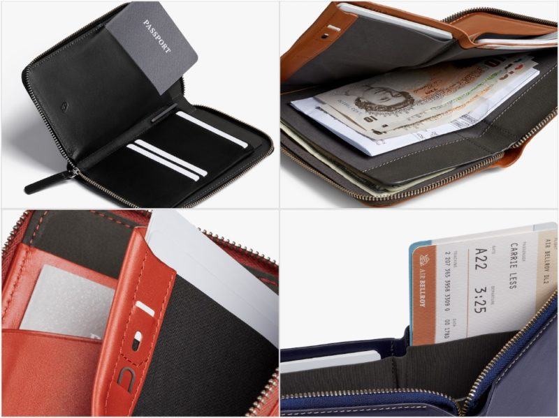トラベルフォリオ(Travel Wallet)の各部
