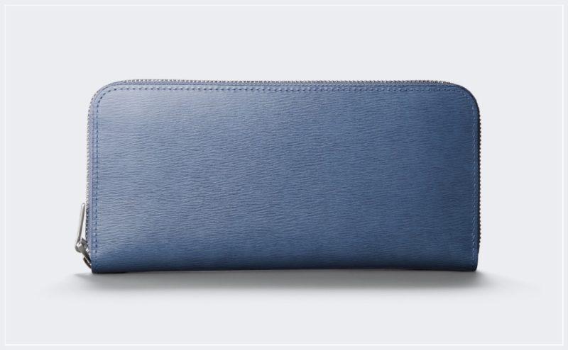 アニアリ・インヘリタンスレザーシリーズの財布(ブルー)