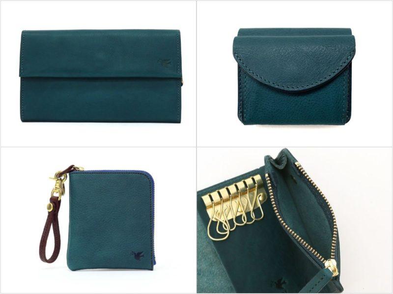 sot・ミネルバボックスレザーシリーズの各種財布(ブルー)