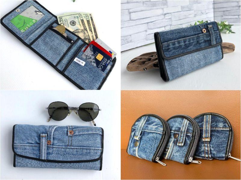 e's(イーズ)・リメイクデニムシリーズの各種財布
