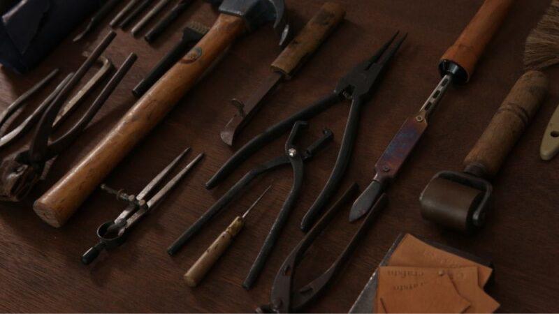 クラフスト財布を修理する時の道具